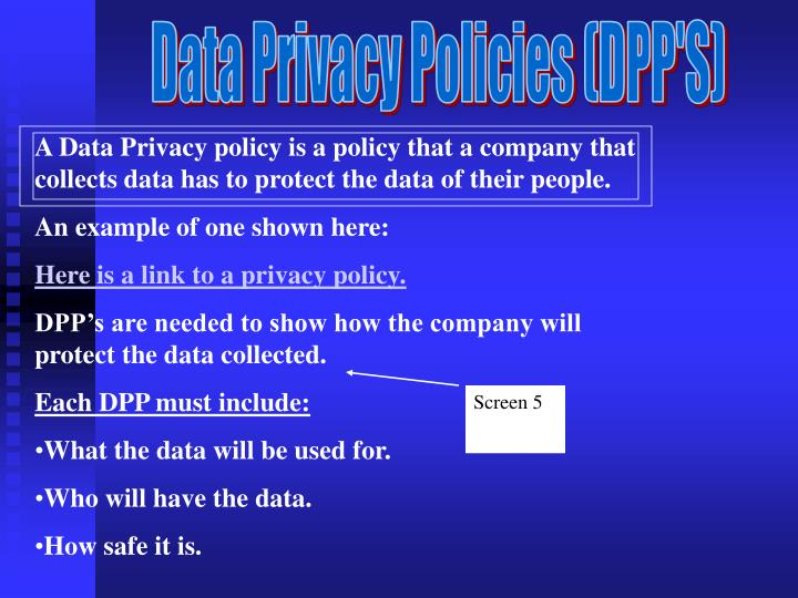 Data Privacy Policies (DPP'S)