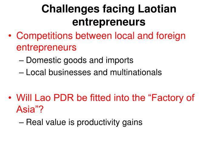 Challenges facing Laotian entrepreneurs