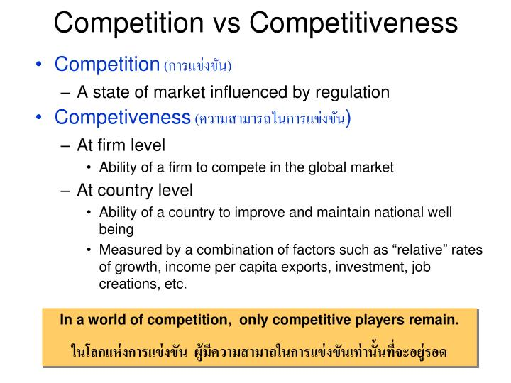 Competition vs competitiveness