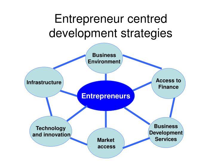 Entrepreneur centred development strategies