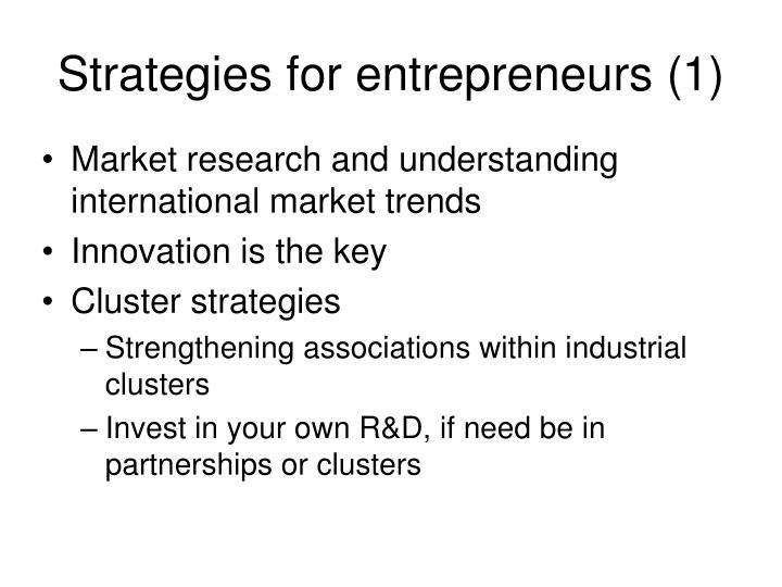 Strategies for entrepreneurs (1)