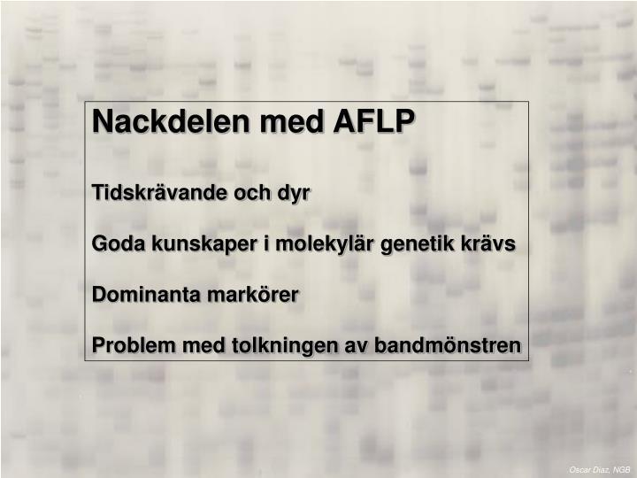 Nackdelen med AFLP