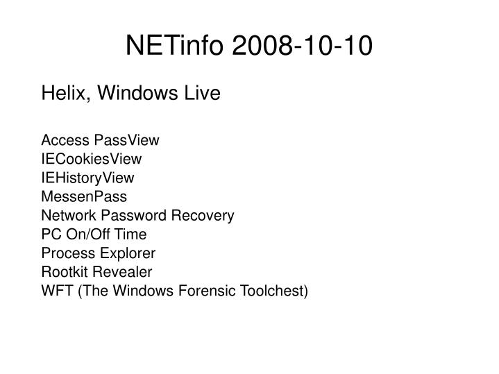 Helix, Windows Live