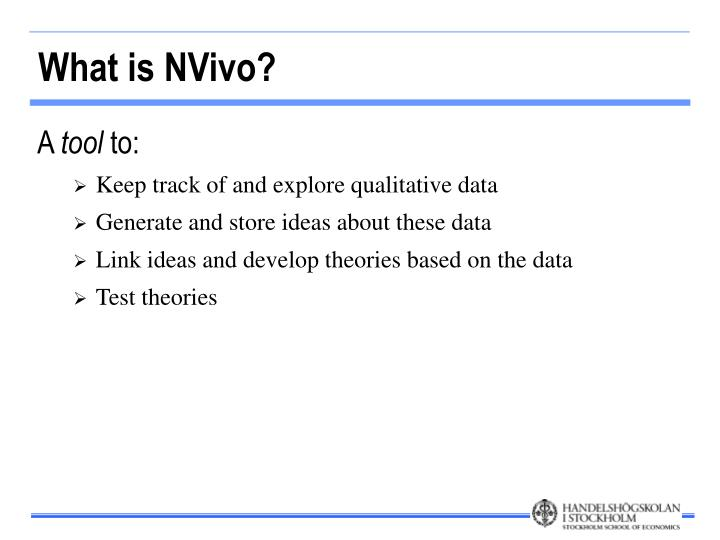 What is NVivo?