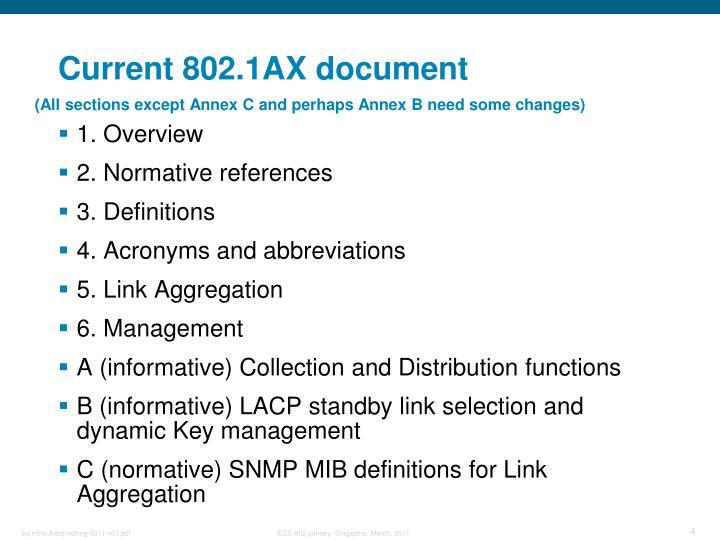 Current 802.1AX document