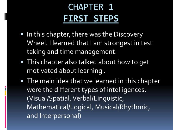 Chapter 1 first steps