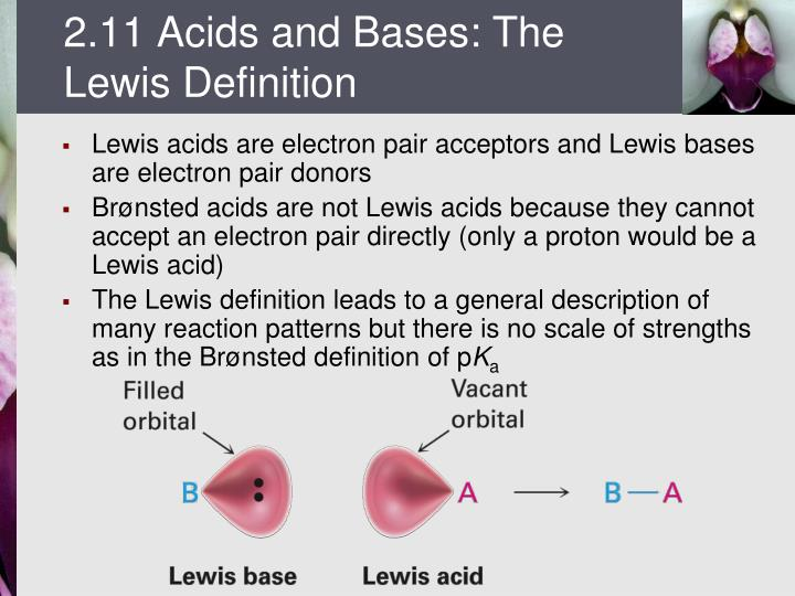 2.11 Acids and Bases: The Lewis Definition