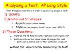 analyzing a text ap lang style1