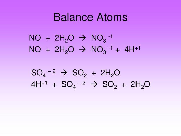 Balance Atoms
