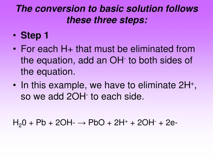 The conversion to basic solution follows these three steps: