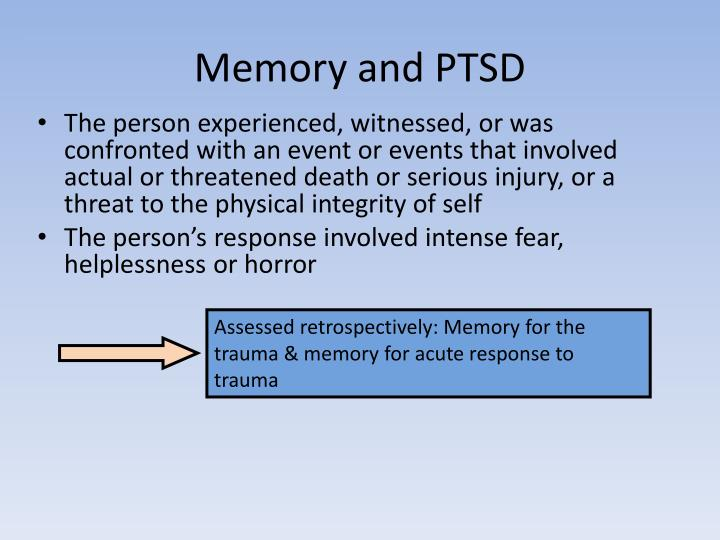 Memory and PTSD