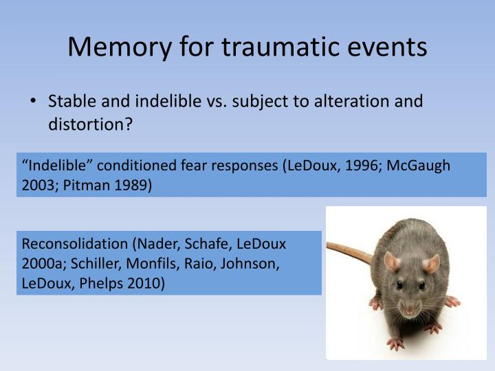 Memory for traumatic events