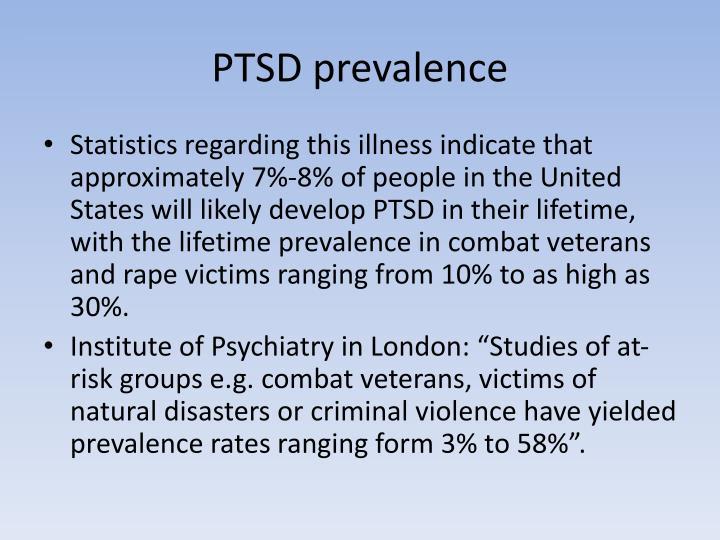PTSD prevalence