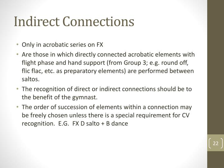 Indirect Connections