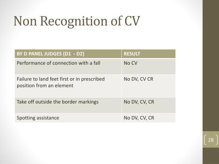 Non Recognition of CV