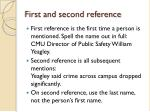 first and second reference