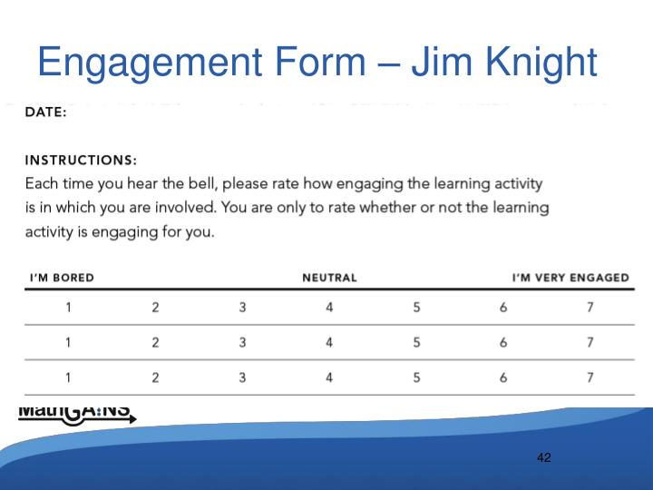 Engagement Form – Jim Knight