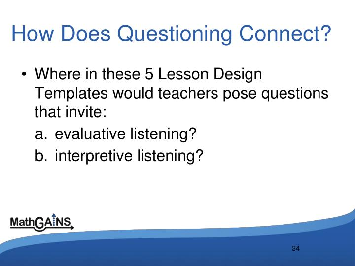 How Does Questioning Connect?