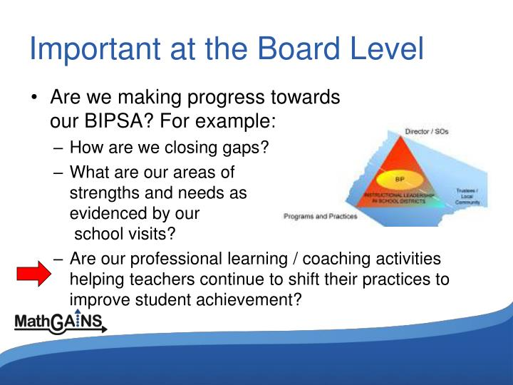 Important at the Board Level