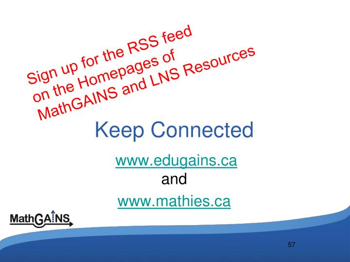 Sign up for the RSS feed