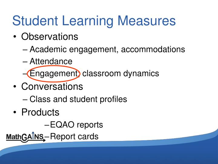 Student Learning Measures