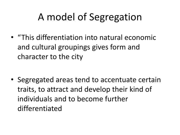 A model of Segregation