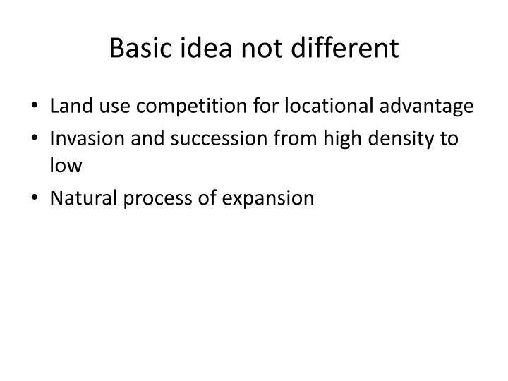 Basic idea not different