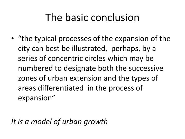 The basic conclusion