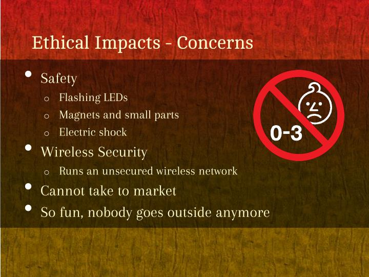 Ethical Impacts - Concerns