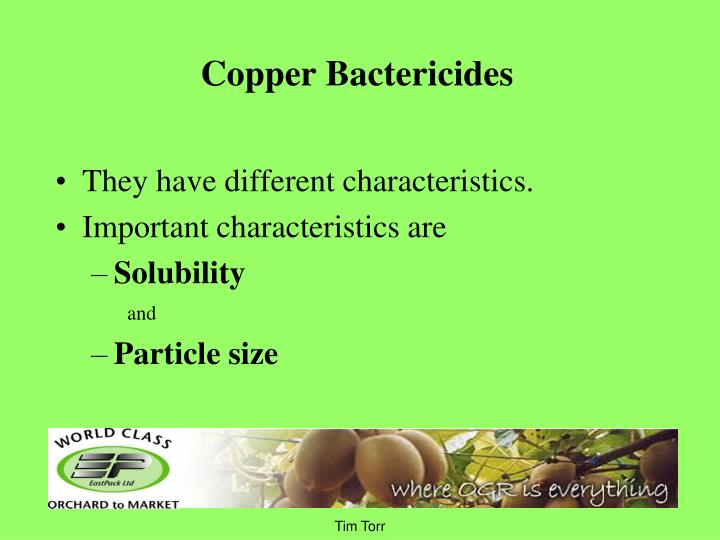 Copper Bactericides