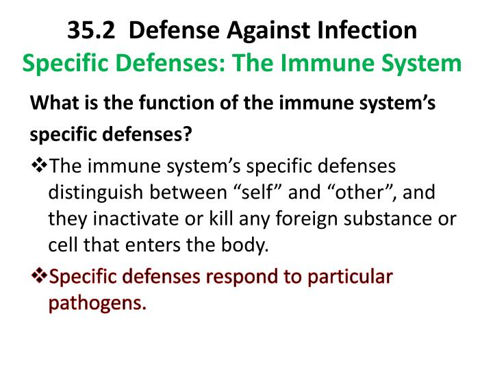 35.2  Defense Against Infection