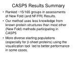 casp5 results summary