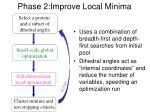 phase 2 improve local minima
