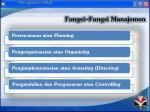 fungsi fungsi manajemen