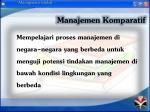 manajemen komparatif1