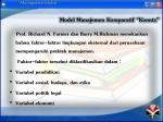 model manajemen komparatif koontz
