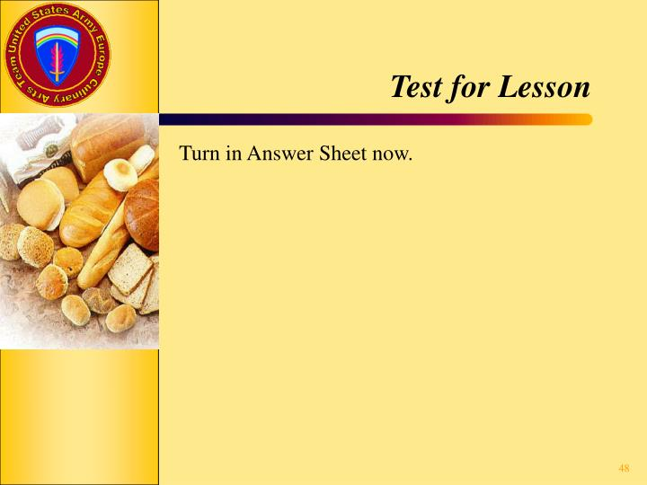 Test for Lesson