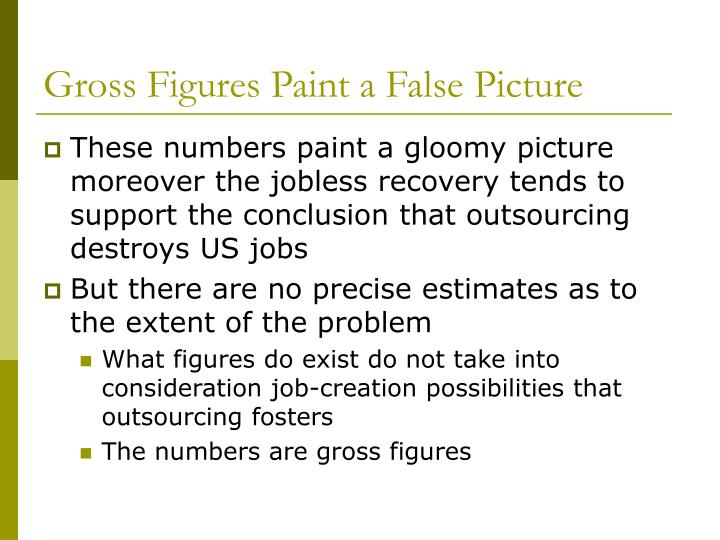 Gross Figures Paint a False Picture