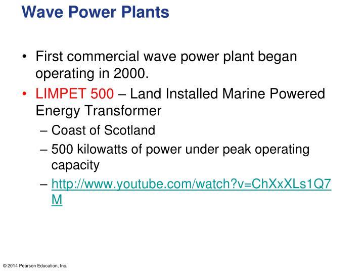 Wave Power Plants