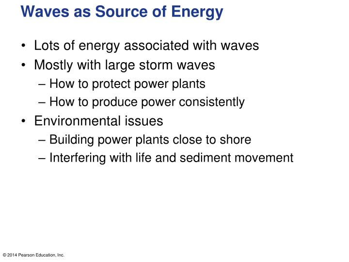 Waves as Source of Energy
