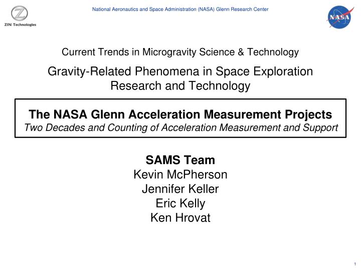 Current Trends in Microgravity Science & Technology