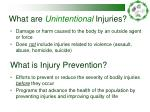 what are unintentional injuries