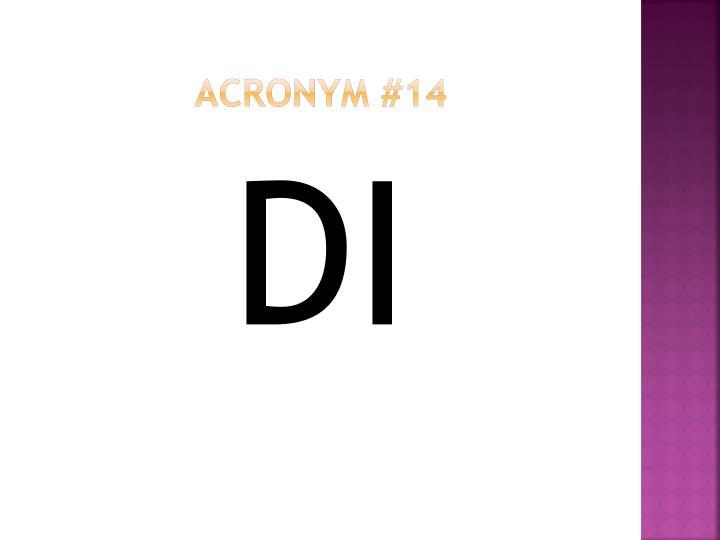Acronym #14