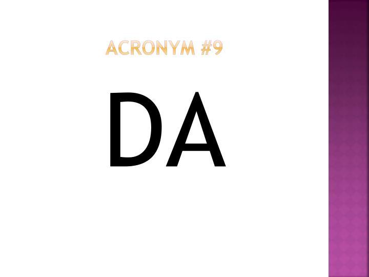 Acronym #9