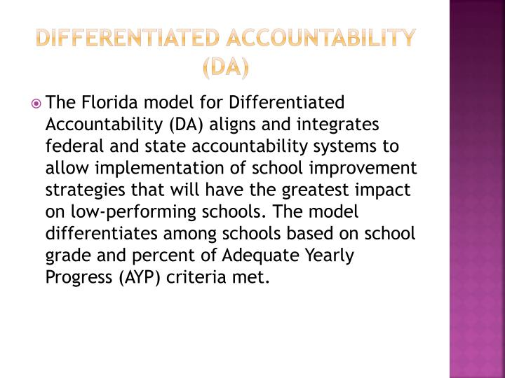 Differentiated Accountability (DA)