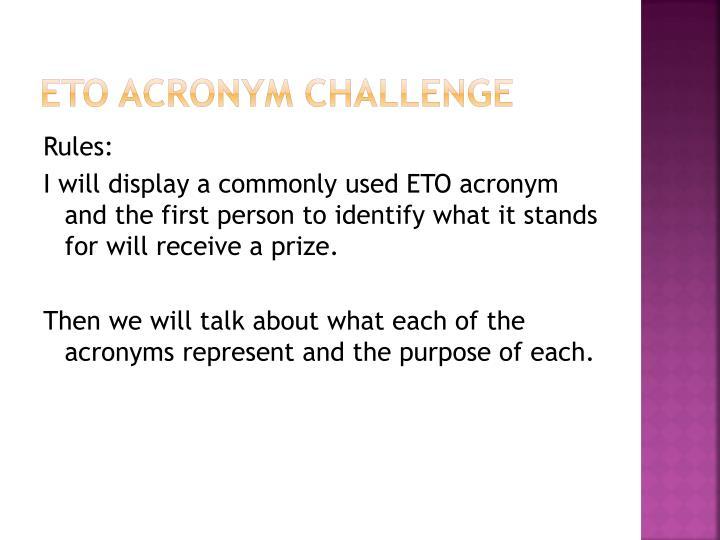 Eto acronym challenge