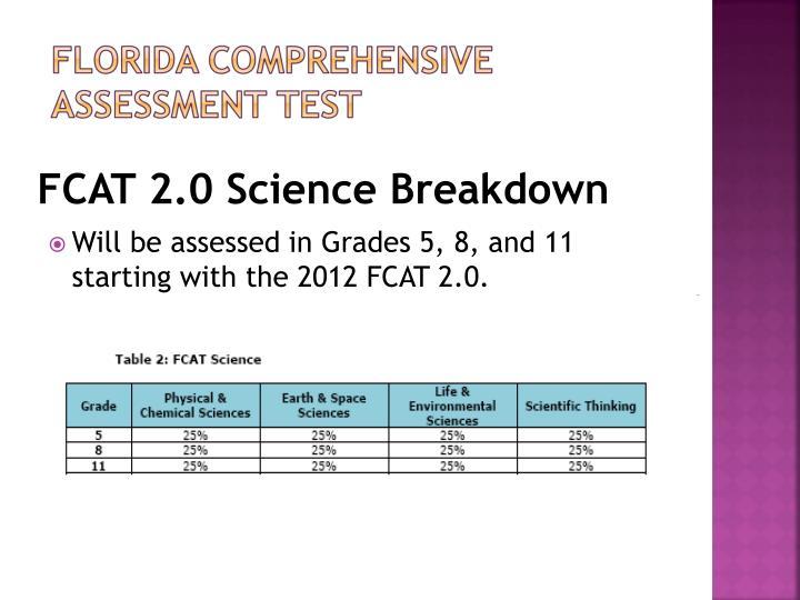 FCAT 2.0 Science Breakdown
