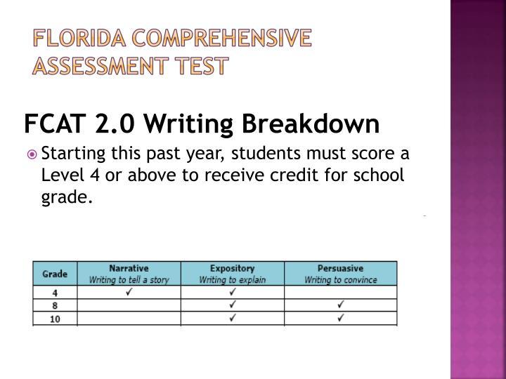 FCAT 2.0 Writing Breakdown