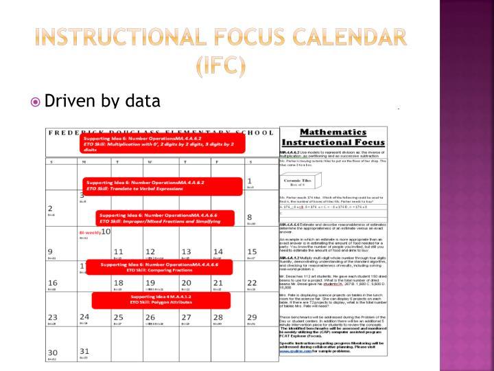 Instructional Focus Calendar (IFC)