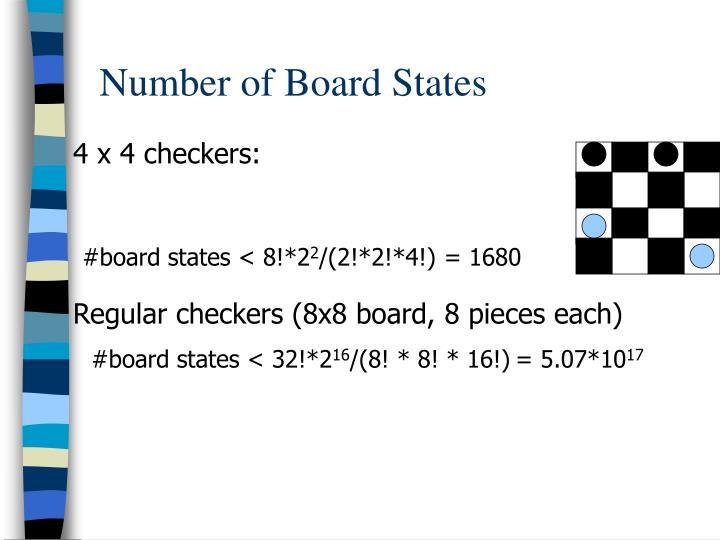 4 x 4 checkers: